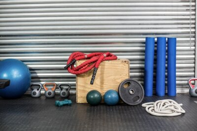 Canvas print View of fitness equipment
