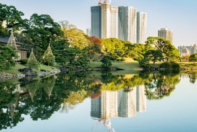 Canvas print View of tokyo cityscape with park