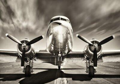 Canvas print vintage airplane