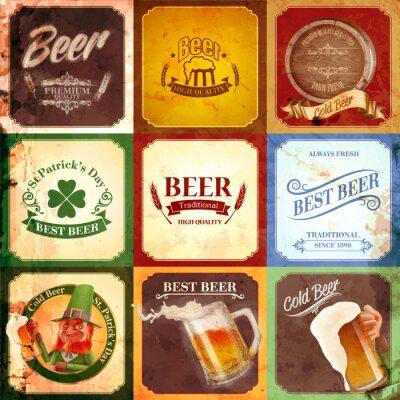 Canvas print vintage banner beer