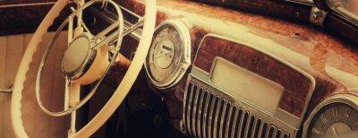 Canvas print Vintage car dashboard  (fragment)