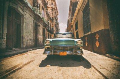 Canvas print Vintage car parked in Havana street