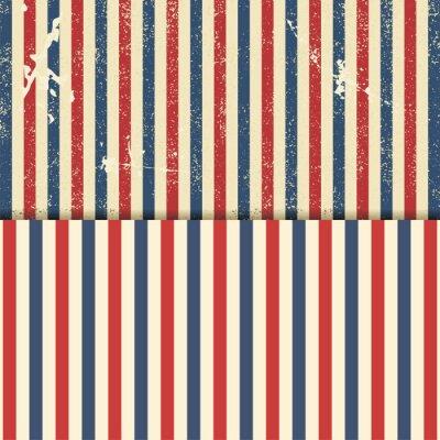Canvas print Vintage design template with stripes. Vector illustration