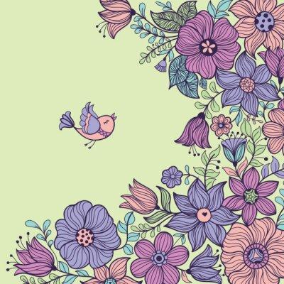 Canvas print Vintage floral seamless pattern. Vector illustration.