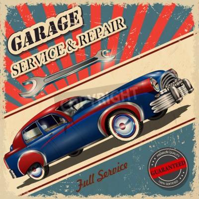 Canvas print Vintage garage retro poster