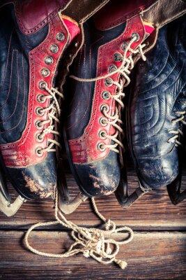 Canvas print Vintage hockey skates