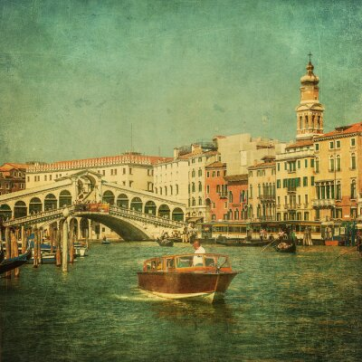 Canvas print Vintage image of Grand Canal, Venice