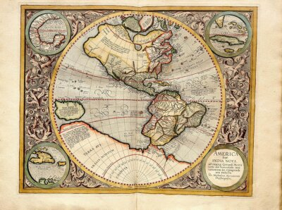 Canvas print Vintage  map