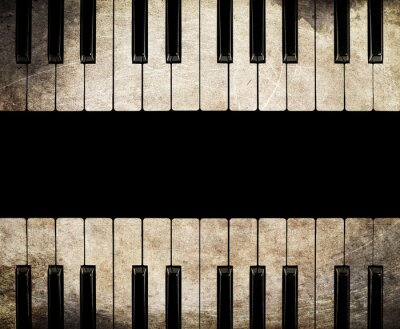 Canvas print vintage piano isolated
