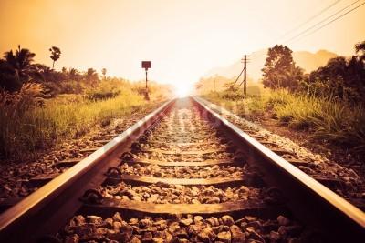 Canvas print vintage railroad