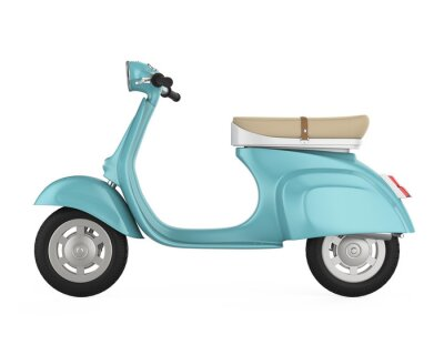 Canvas print Vintage Retro Scooter Isolated