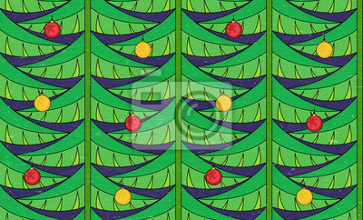 Vintage seamless pattern with christmas tree branches