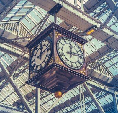 Canvas print Vintage Station Clock