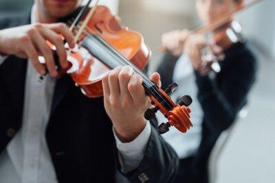 Canvas print Violin duet performance