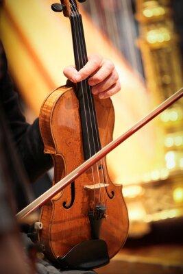 Canvas print violon instrument à vent musique classique symphonique corde