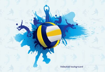 Canvas print Volleyball abstract