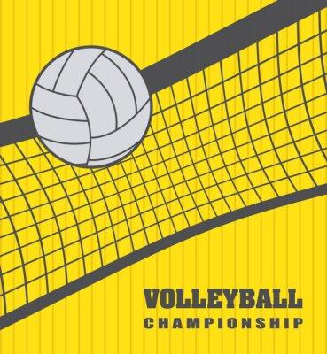 Canvas print volleyball ball