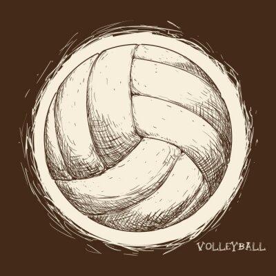 Canvas print Volleyball icon design