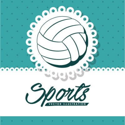 Canvas print volleyball league design
