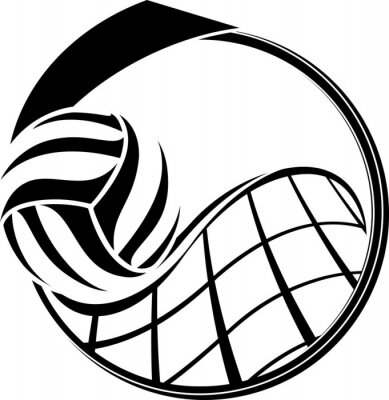 Canvas print Volleyball Medal Design