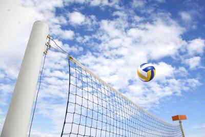 Canvas print Volleyballnetz