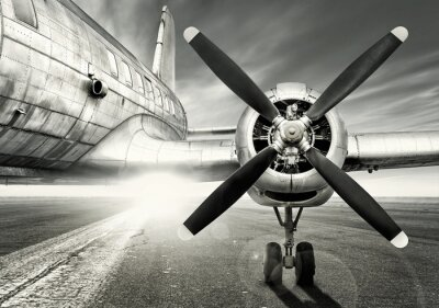 Canvas print waiting for a last take off