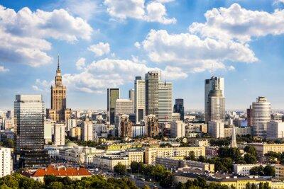 Canvas print Warsaw business district
