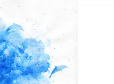 Canvas print watercolor background