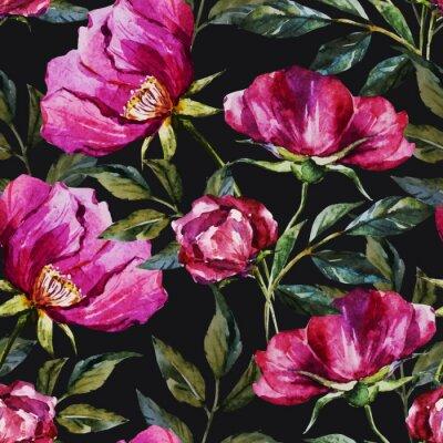 Canvas print Watercolor floral pattern