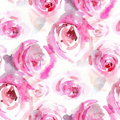 Canvas print Watercolor roses