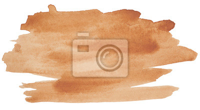 Canvas print watercolor stain, brown for design