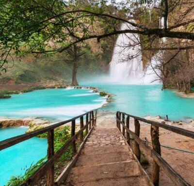 Canvas print Waterfall in Mexico