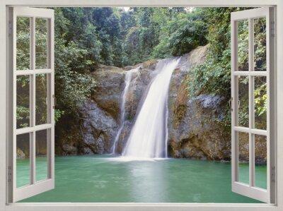 Canvas print Waterfall near Iligan town, Mindanao, Philippines
