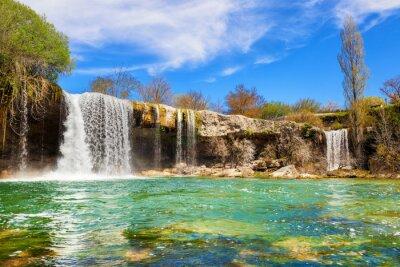 Canvas print Waterfalls of Jerea river in Pedrosa de Tobalina, in the province of Burgos, Spain