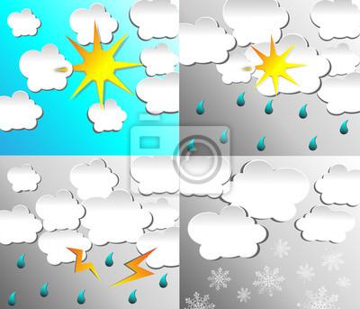 weather icon set symbols vector illustration
