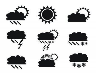 weather - minimal art - symbol set