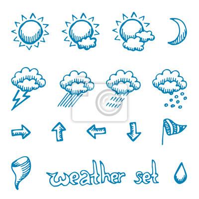 Weather symbols set