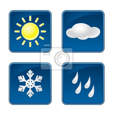 Weather symbols vector set