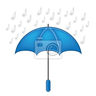 Weather symbols vector set,umbrella with rain
