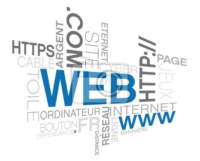web, words picture on the internet theme