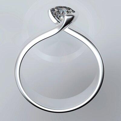 Canvas print Wedding Ring with diamond