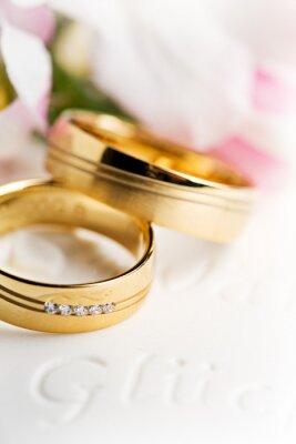 Canvas print Wedding rings, wedding rings