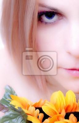weiches Blumenportrait