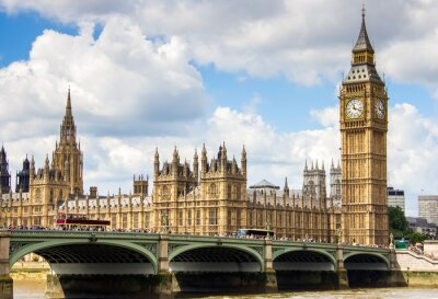 Canvas print Westminster view