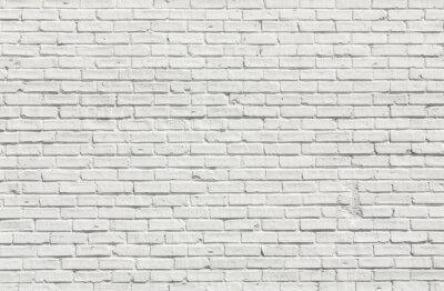 Canvas print White brick wall