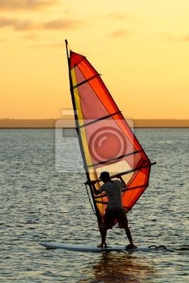 Canvas print wind surfer