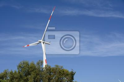 Wind turbine/Wind turbine set in the countryside
