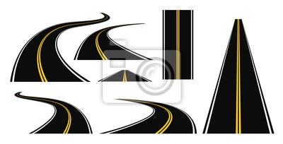 winding road set 3d