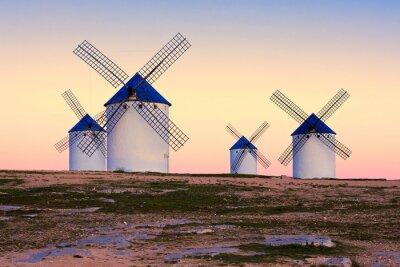 Canvas print windmill in Campo de Criptana, La Mancha, Spain