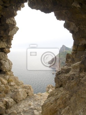 window in an old stone fortress